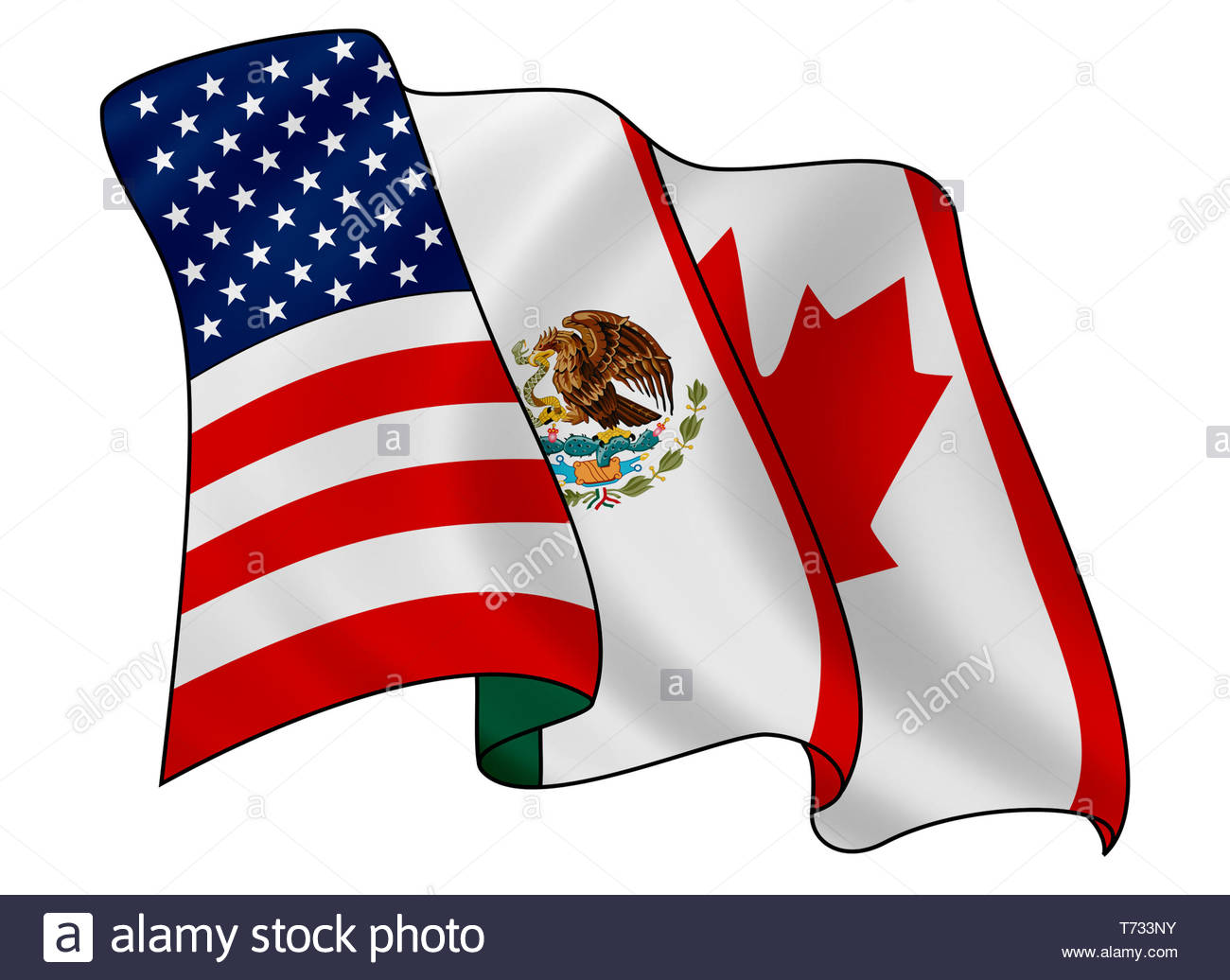 North American Free Trade Agreement NAFTA logo Stock Photo