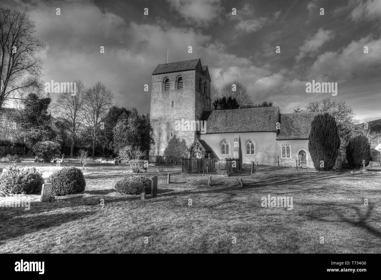 Fingest Church. - Stock Image