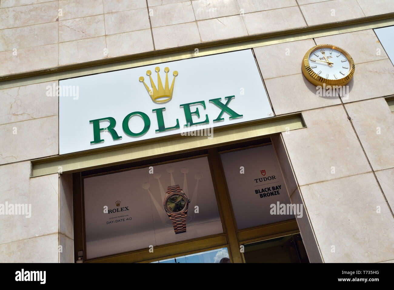 Rolex store - Stock Image