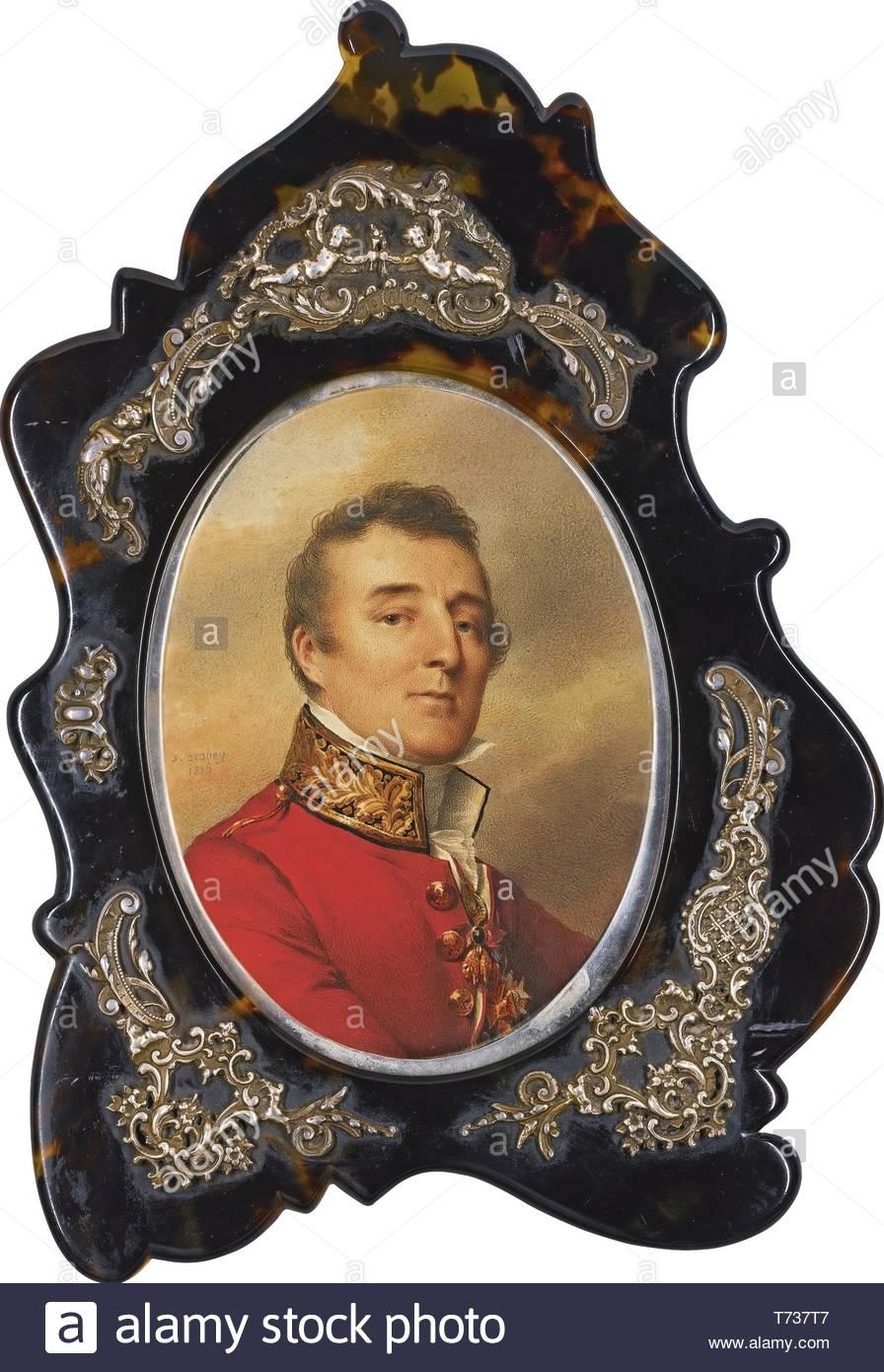 Jean-Baptiste Isabey-Portrait Of Arthur Wellesley, 1st Duke Of Wellington (1769-1852) - Stock Image