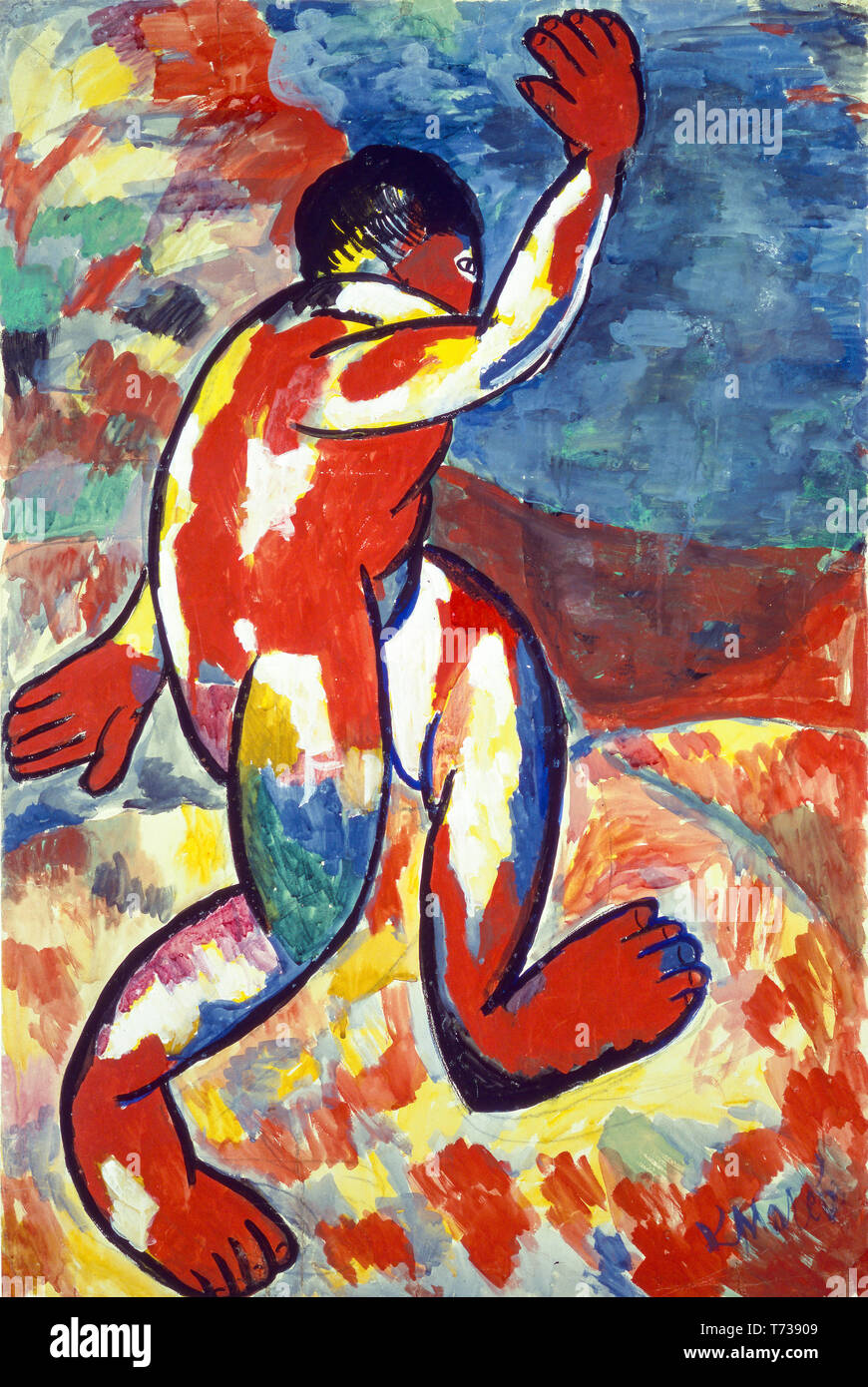 Kazimir Malevich, Bather, painting, 1911 - Stock Image