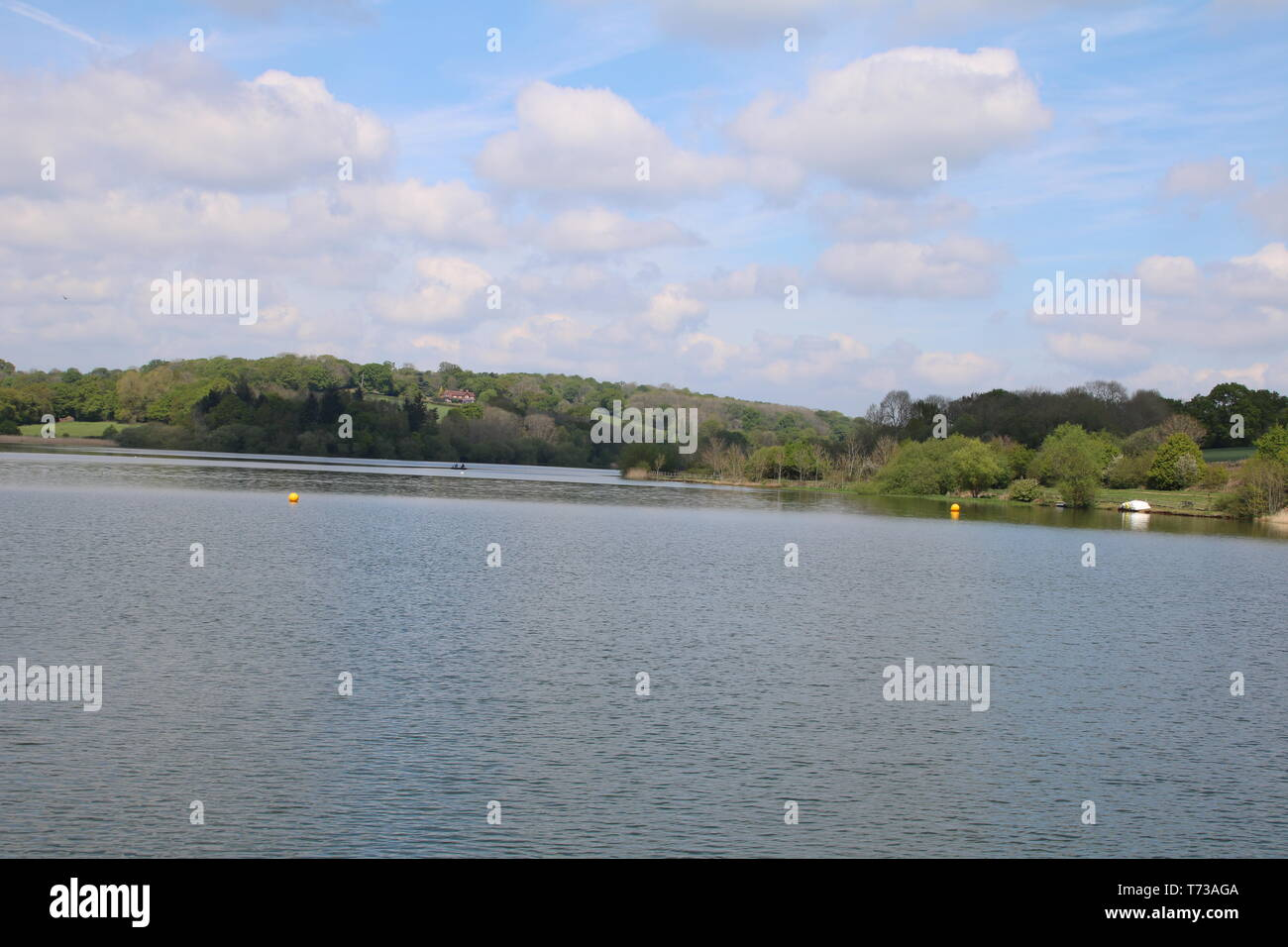 scenic countrysid around ardingly reservoir in sussex on a nice bright day - Stock Image