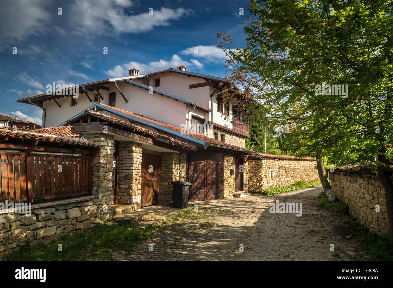 Arbanassi, Veliko Tarnovo, Bulgaria. Traditional bulgarian house in Arbanasi Stock Photo