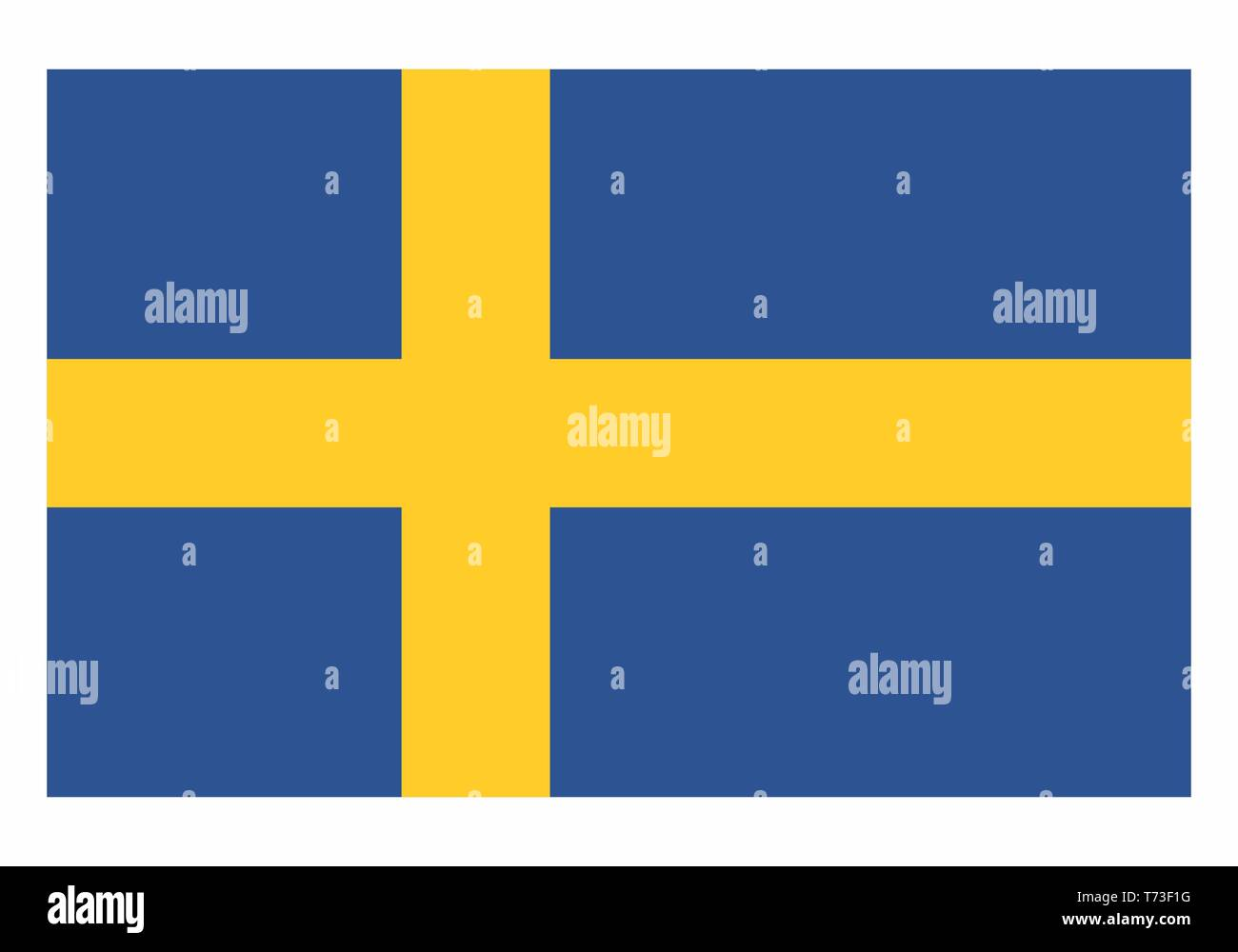 Illustration of an isolated Sweden national flag - Stock Vector