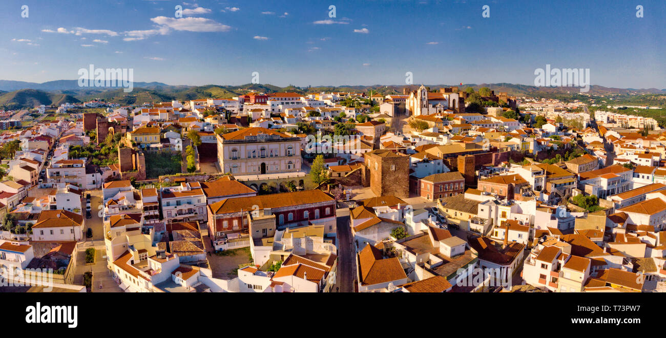 Aerial view of Silves town, the Algarve, Portugal Stock Photo