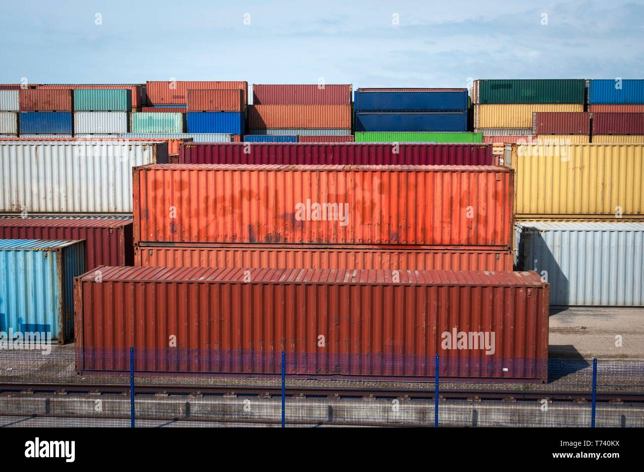 Shipping containers - Stock Image