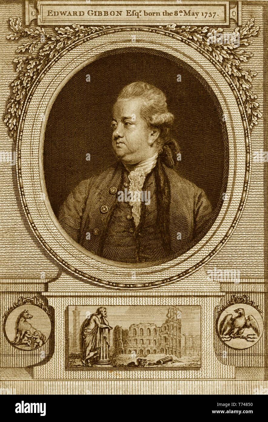 EDWARD GIBBON (1737-1794) English historian and MP - Stock Image
