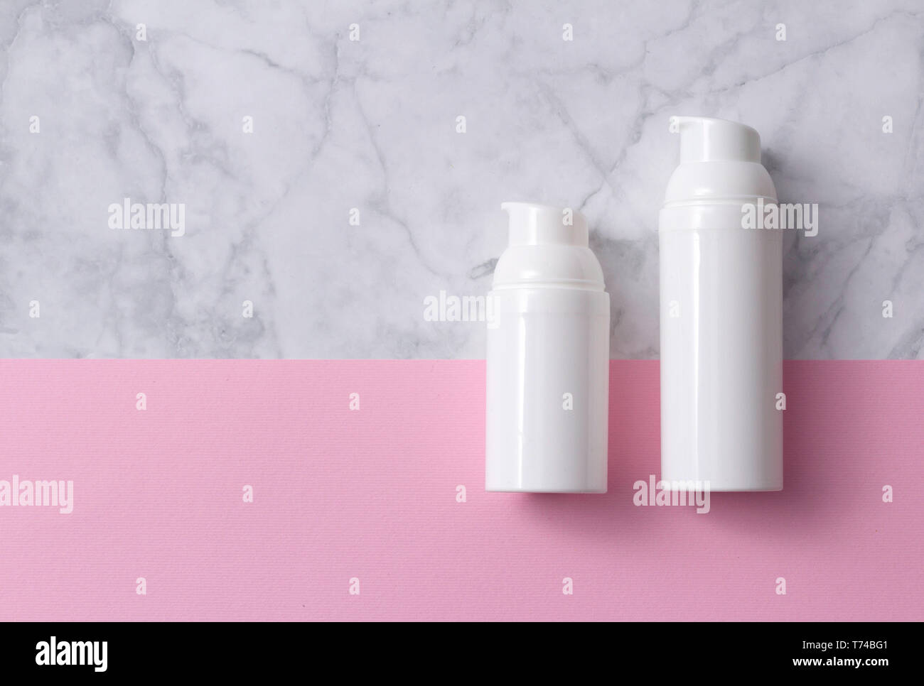 Natural Skincare Cosmetic Product On Gray Marble Background Skincare Product Concept Stock Photo Alamy