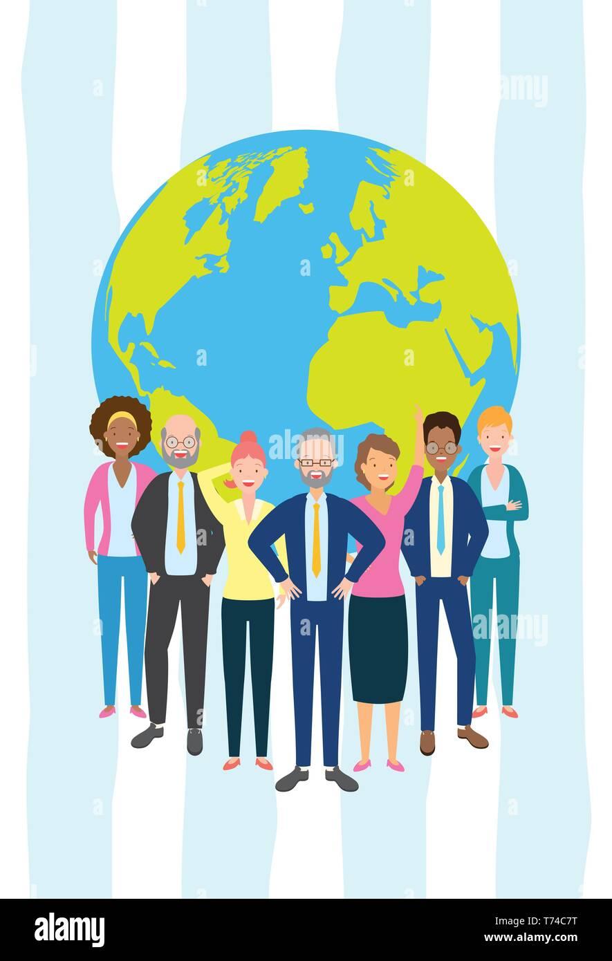 diversity man and woman - Stock Image