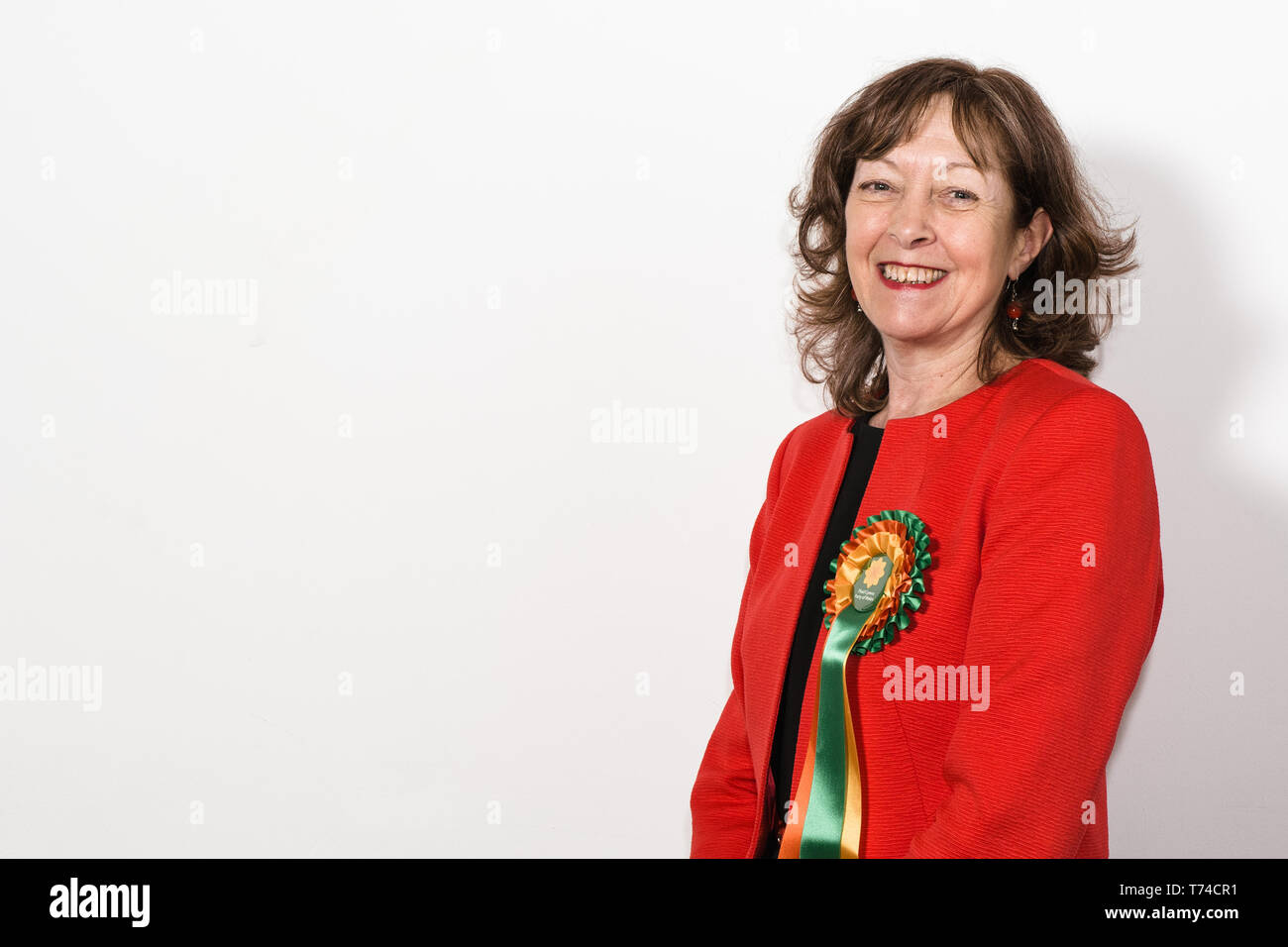 Jill Evans MEP - Plaid Cymru Member of the European Parliament for Wales Stock Photo