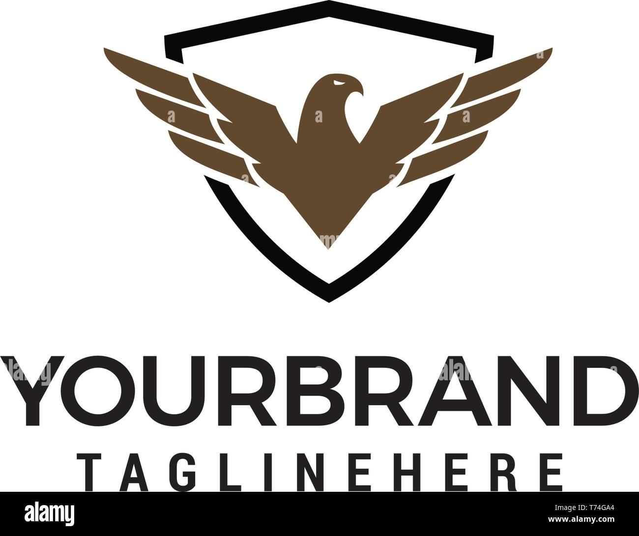 eagle wings shield logo design concept template vector stock vector image art alamy https www alamy com eagle wings shield logo design concept template vector image245348380 html