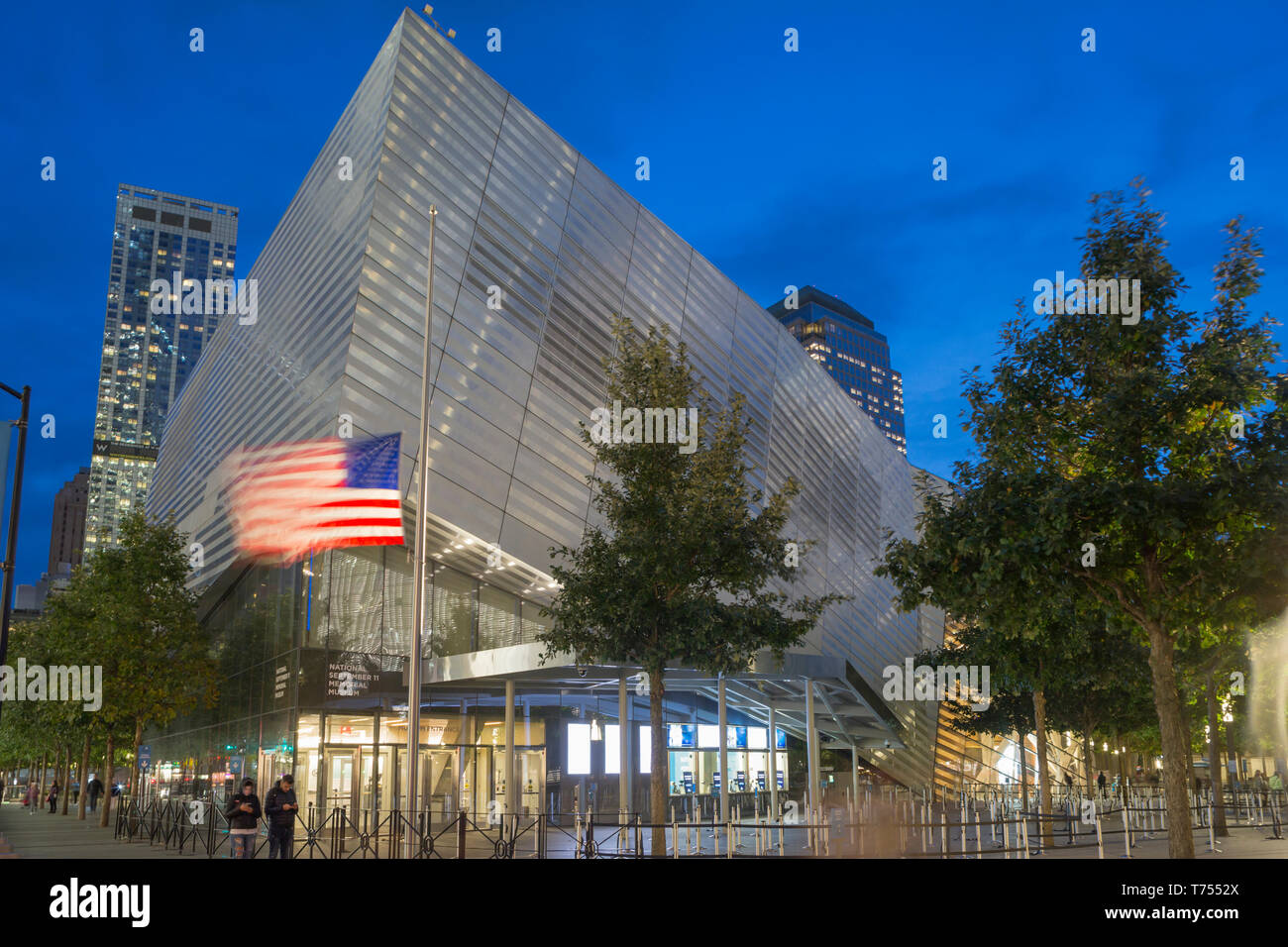 ENTRANCE PAVILION NATIONAL SEPTEMBER 11 MEMORIAL MUSEUM (©DAVIS BRODY BOND 2018 ) DOWNTOWN MANHATTAN NEW YORK CITY USA Stock Photo