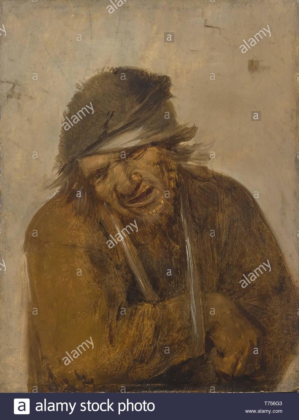 Joos Van Craesbeeck-A Peasant Grimacing, His Arm In A Sling - Stock Image