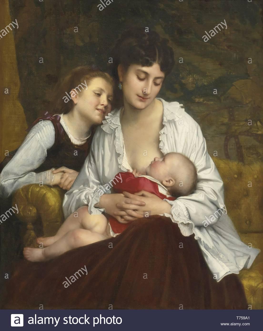 Lon-Jean-Basile Perrault-Motherly Love - Stock Image