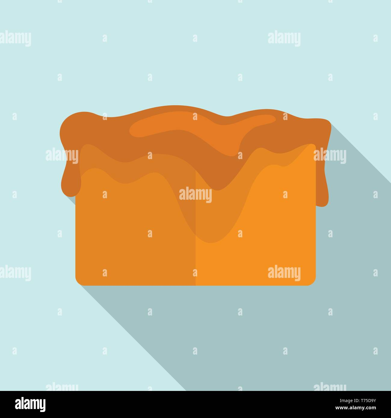 Toffee cube icon  Flat illustration of toffee cube vector