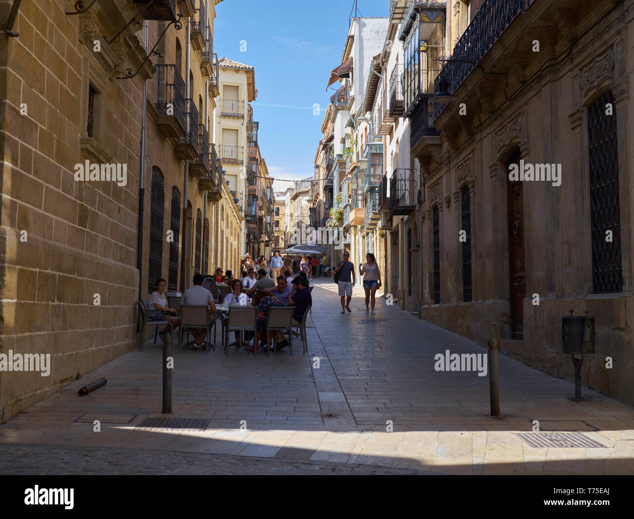 Pedestrian Street in Úbeda, Andalusia, Spain. - Stock Image