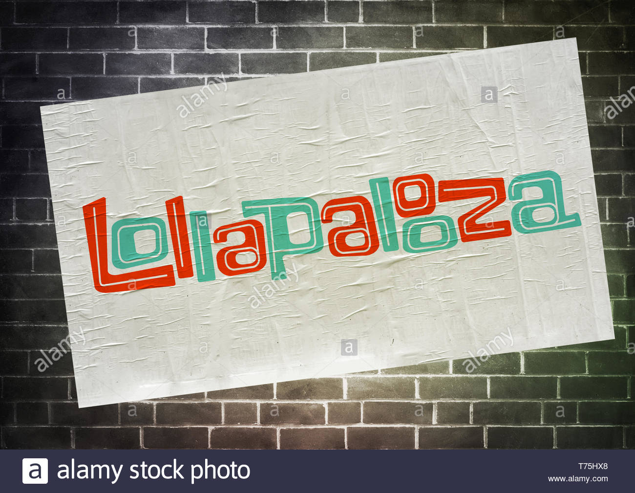 Lollapalooza music festival poster - Stock Image
