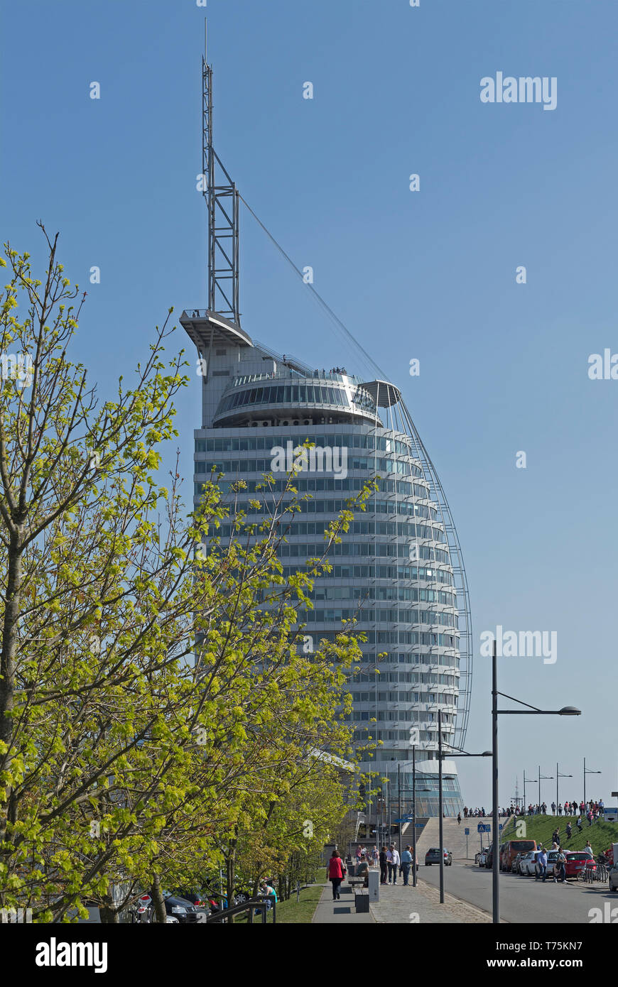 ATLANTIC Hotel Sail City, Bremerhaven, Bremen, Germany - Stock Image
