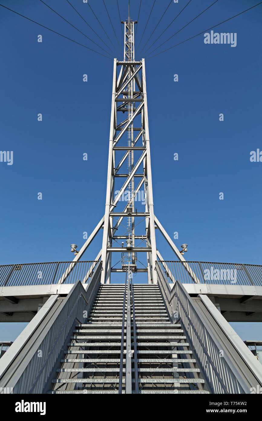 viewing platform, ATLANTIC Hotel Sail City, Bremerhaven, Bremen, Germany - Stock Image