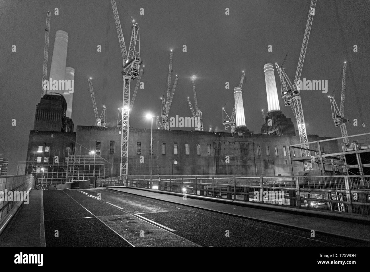The eastern entrance to Circus West Village via Pump House Lane opens by Battersea Power Station in London on December 20, 2017 - Stock Image