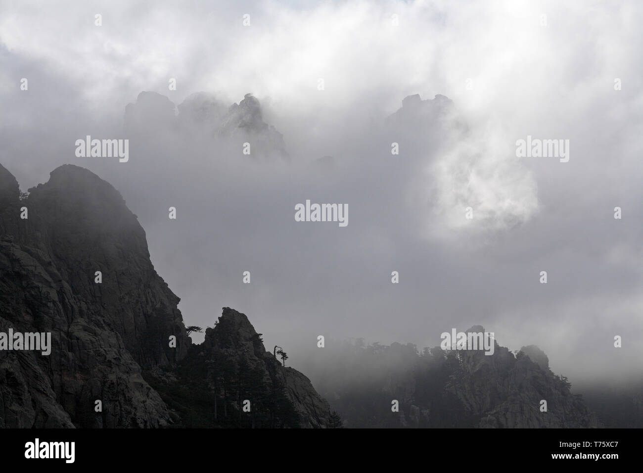 Mountains in the Monte Incudine massif Corsica France Stock Photo