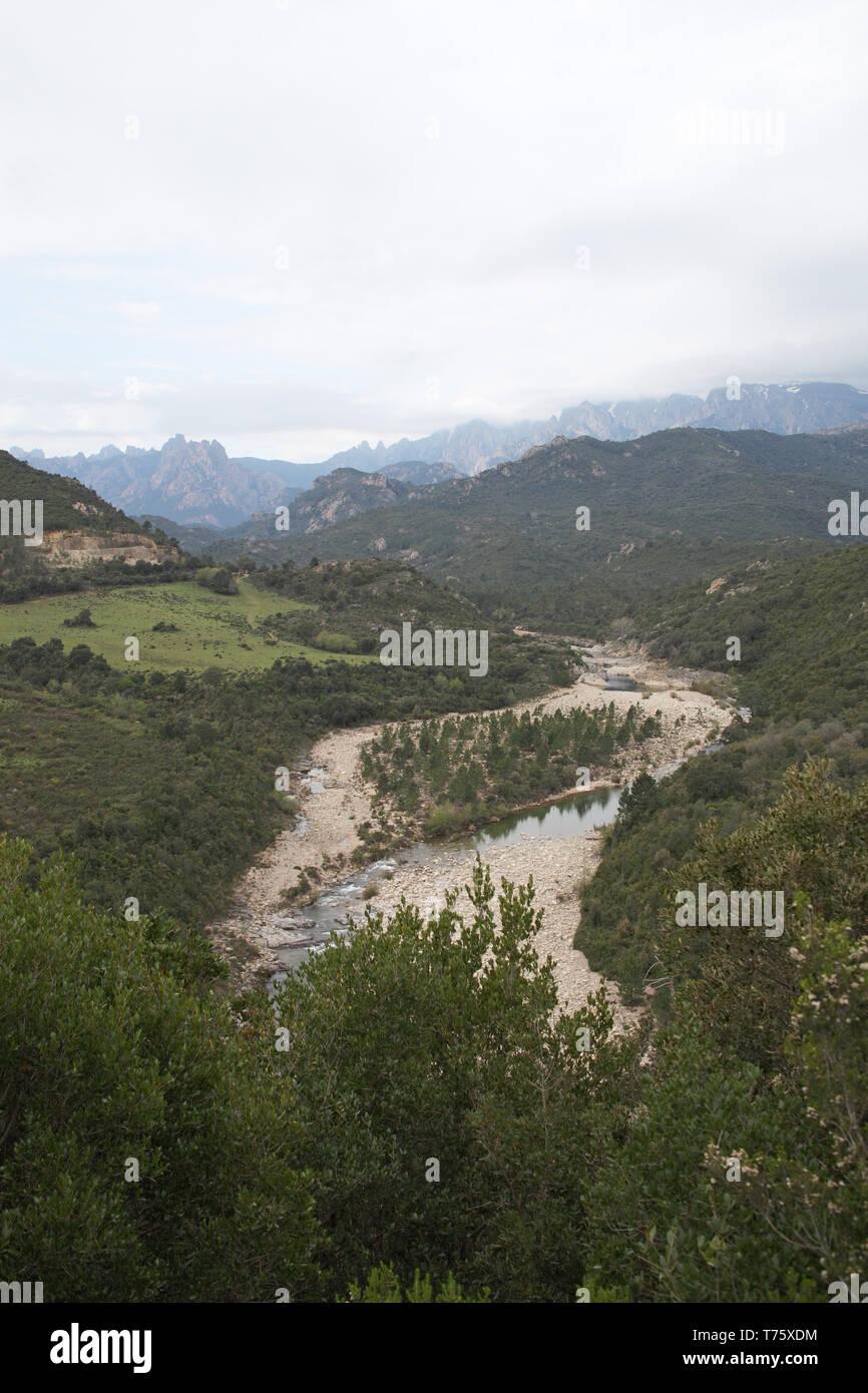 Solenzara river Parc Naturel Regional de Corse Corsica France Stock Photo