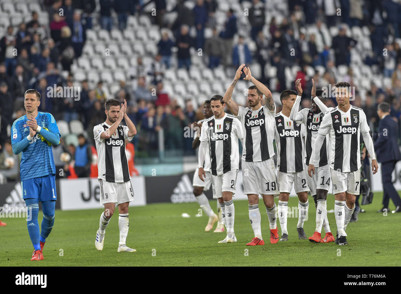 Turin, Italy  03rd May, 2019  Juventus FC after the Serie A match at