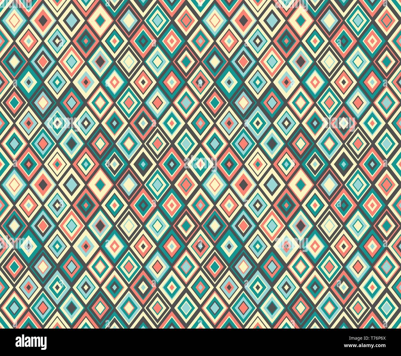 Modern Diamond Geometric Seamless Pattern Texture For