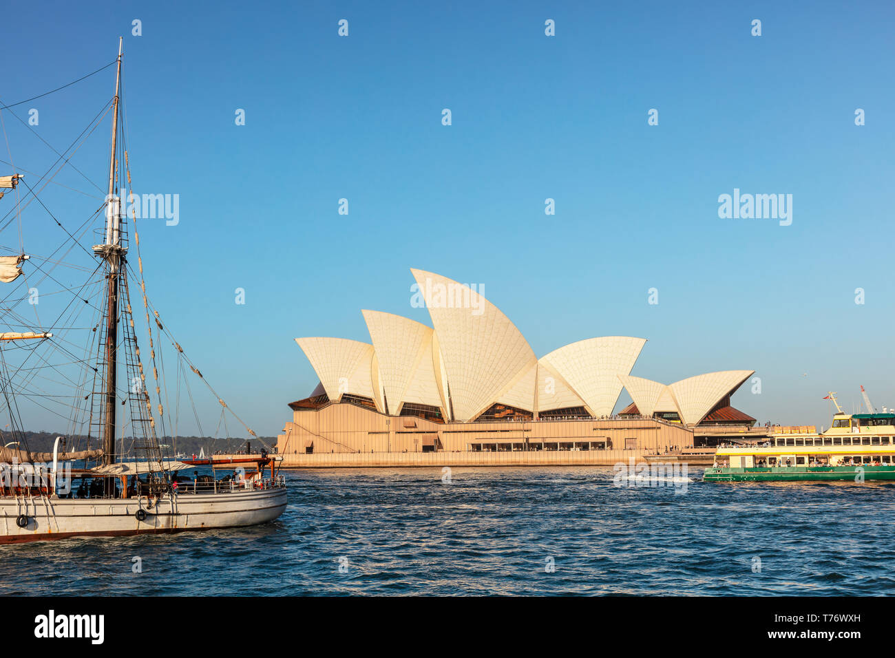 Circular Quay in Sydney is the city's main ferry terminus - situated in the very heart of Sydney Cove. - Stock Image