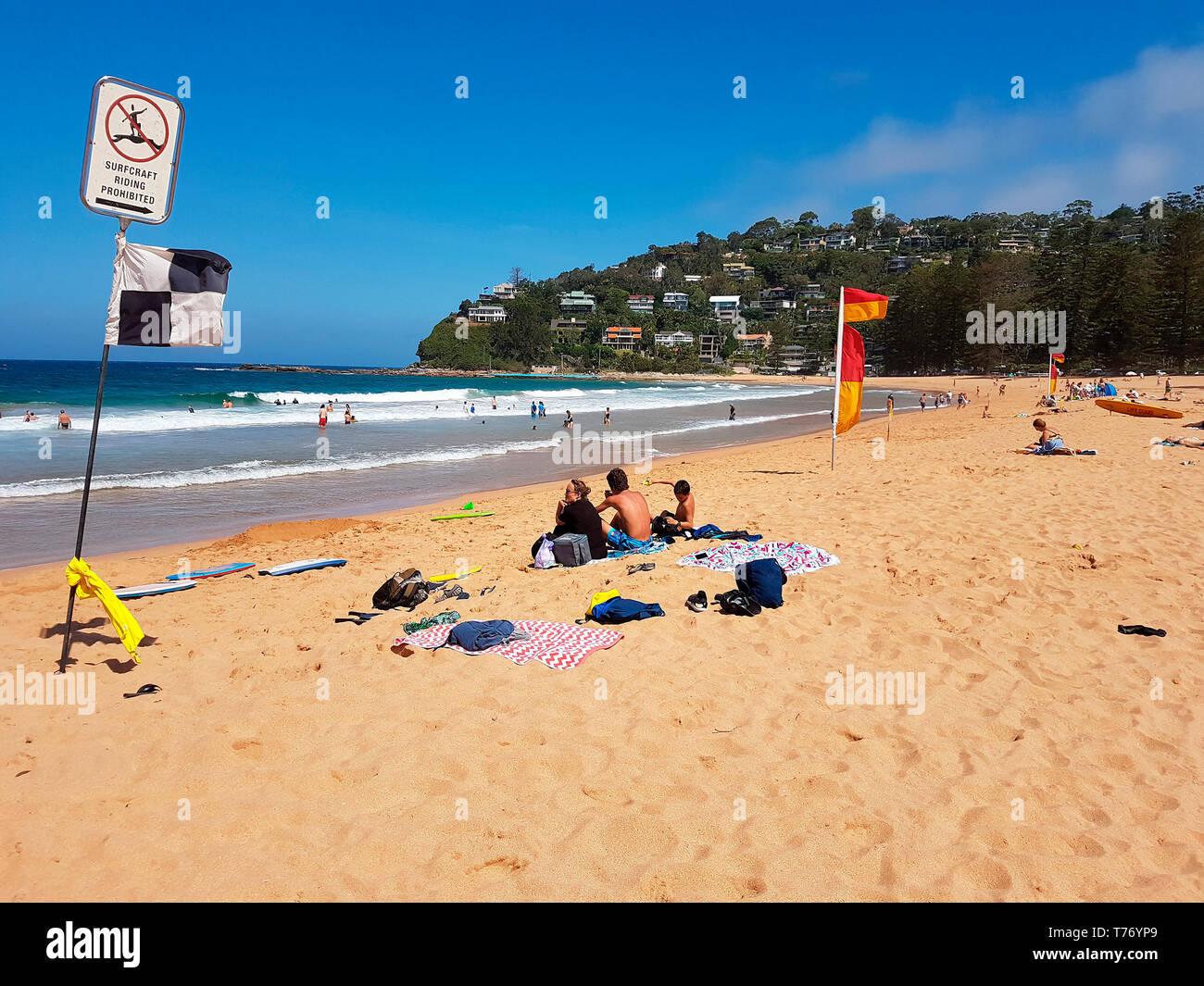 Impressionen: Palm beach, Sydney, Australia. - Stock Image