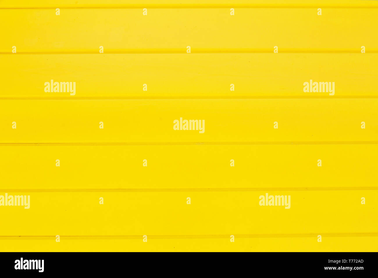 yellow painted planks texture - Stock Image