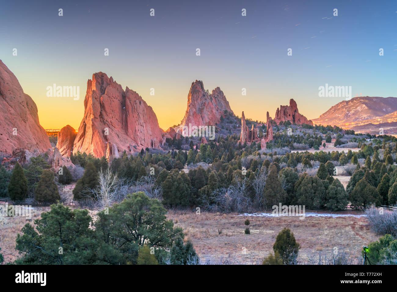 Garden of the Gods, Colorado Springs, Colorado, USA. - Stock Image