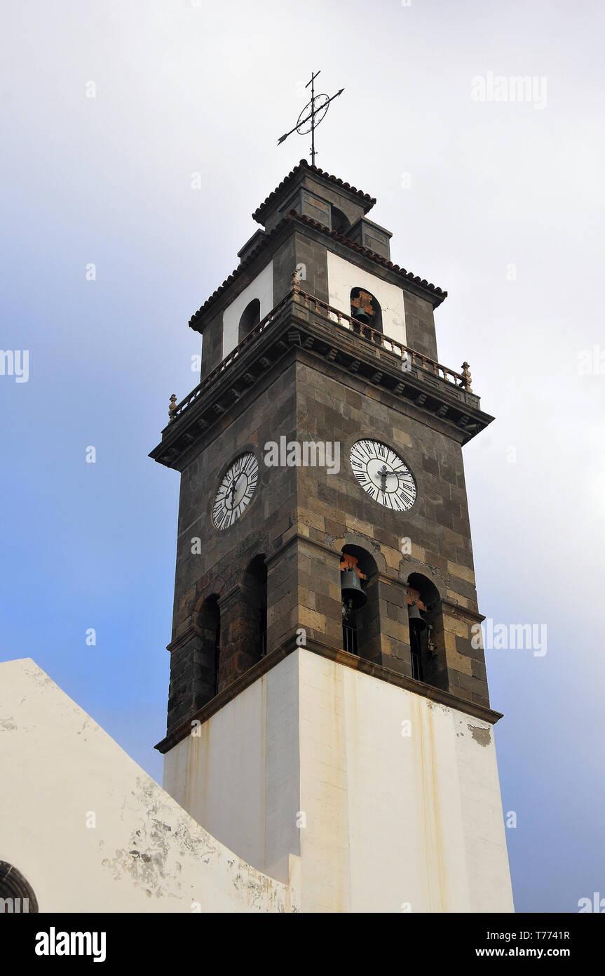 Church in Buenavista del Norte, Tenerife, Canary Islands, Spain - Stock Image