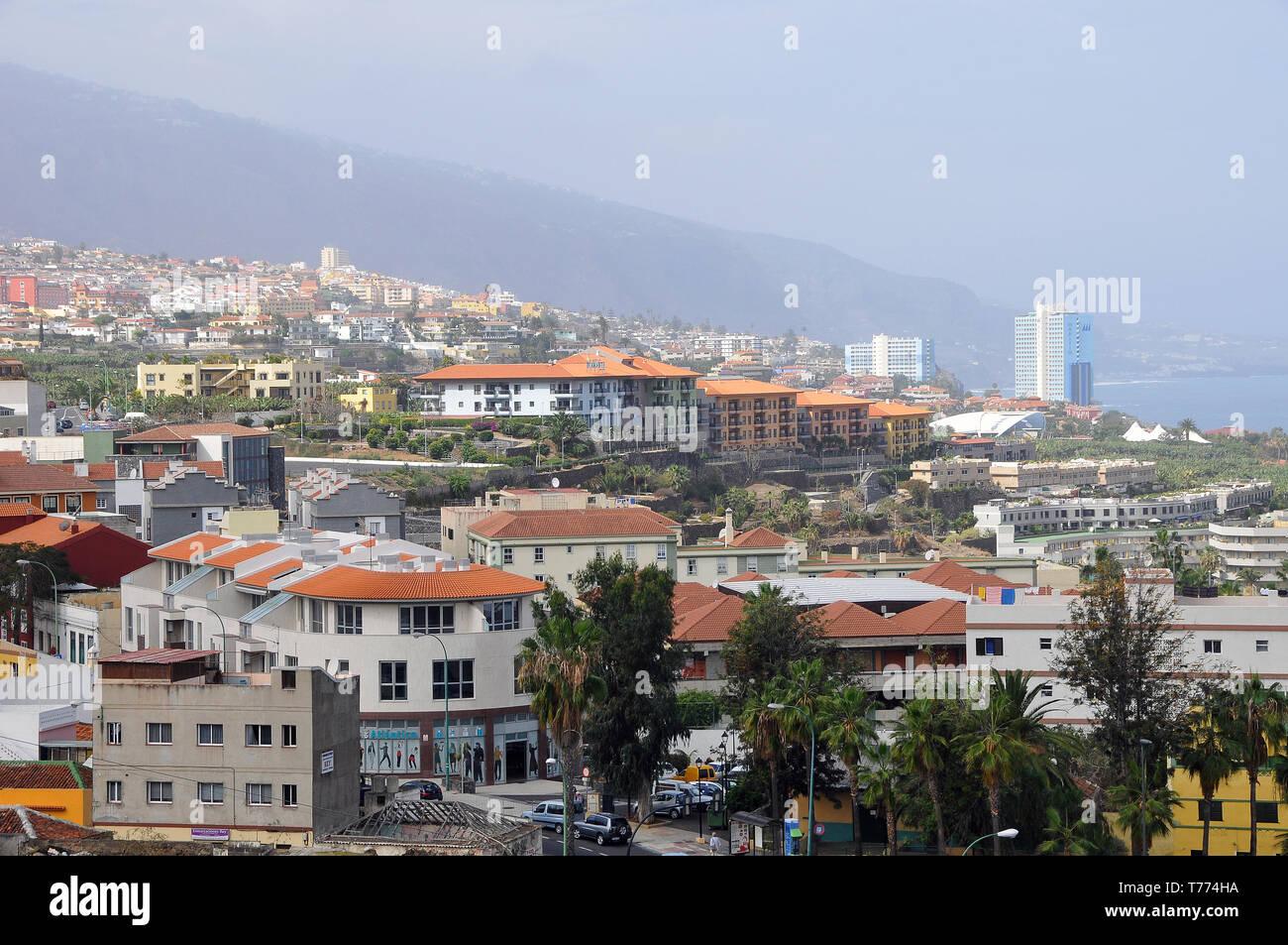 Wiew of Puerto de la Cruz, Tenerife, Canary Islands, Spain - Stock Image