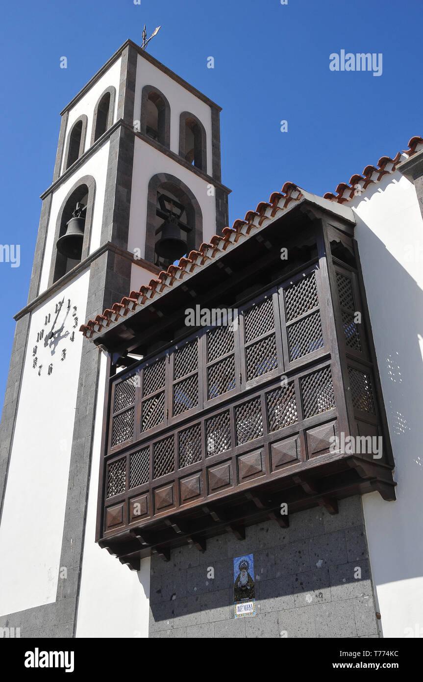 Church in Santiago del Teide, Tenerife, Canary Islands, Spain - Stock Image