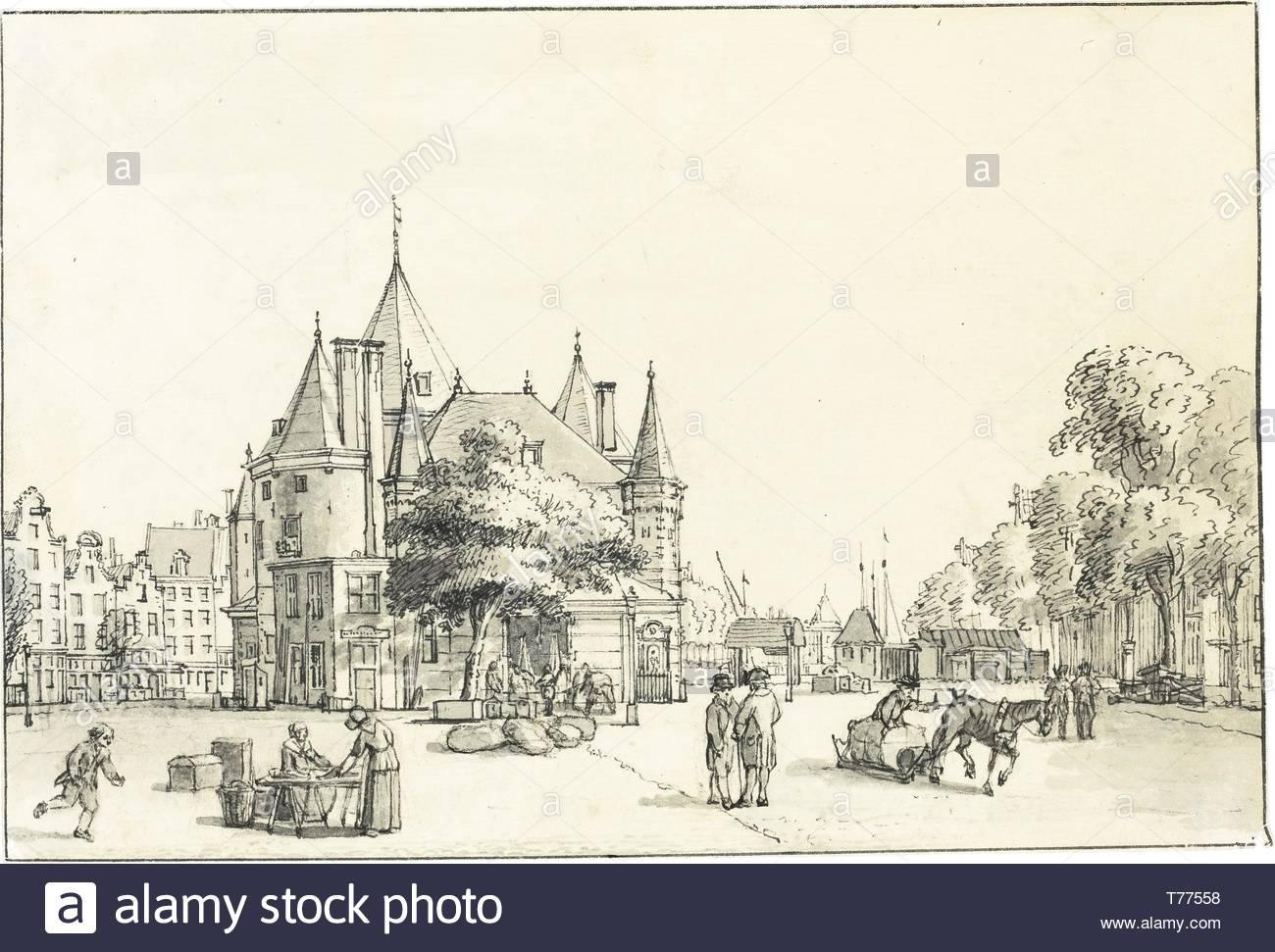 Reinier Vinkeles-View Of The Weighhouse In The Nieuwmarkt, Amsterdam - Stock Image