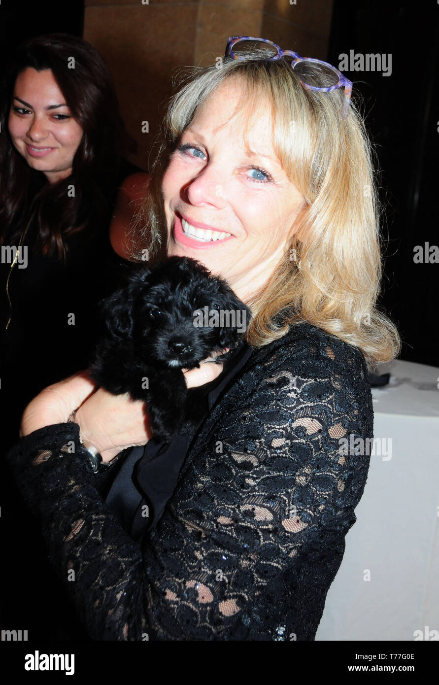 Beverly Hills, California, USA 4th May 2019 Cheri Warner and puppy Olive attend JDRF Los Angeles Imagine Gala on May 4, 2019 at the Beverly Hilton Hotel in Beverly Hills, California, USA. Photo by Barry King/Alamy Live News - Stock Image