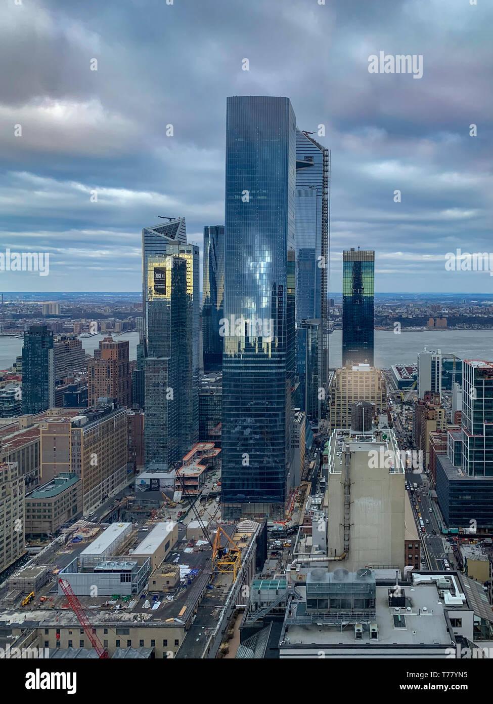 Hudson Yards skyscraper development in Midtown West, New York City Stock Photo