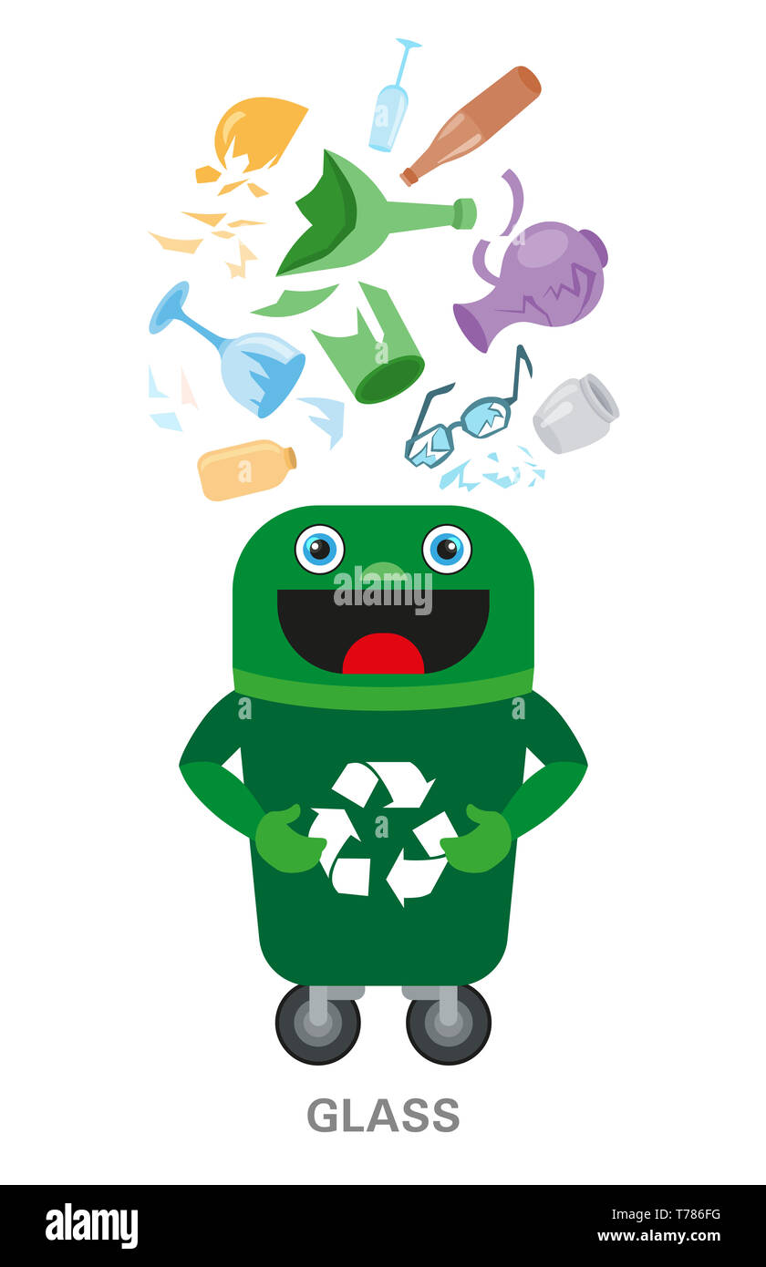 Sorted Garbage Set Different Types Of Garbage Heap Organic Plastic