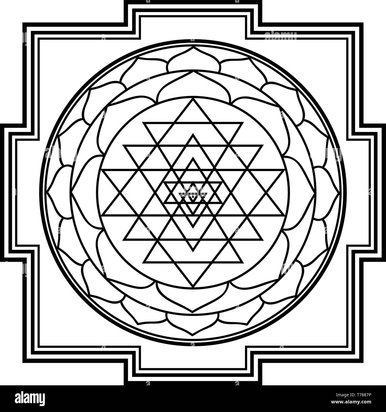 Sriyantra Stock Photos & Sriyantra Stock Images - Alamy