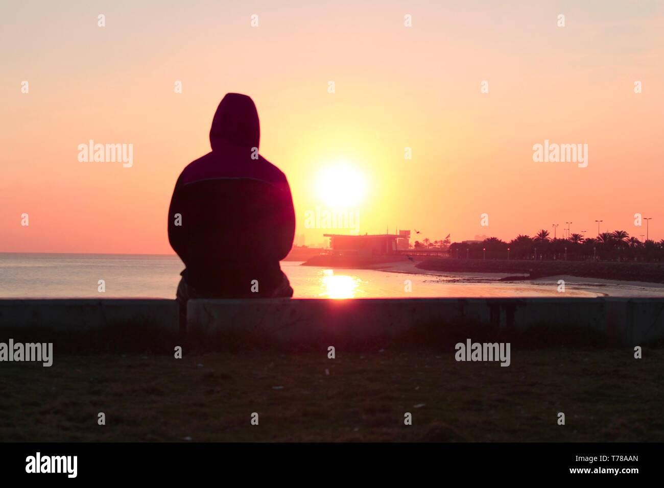 the rising sun - Stock Image