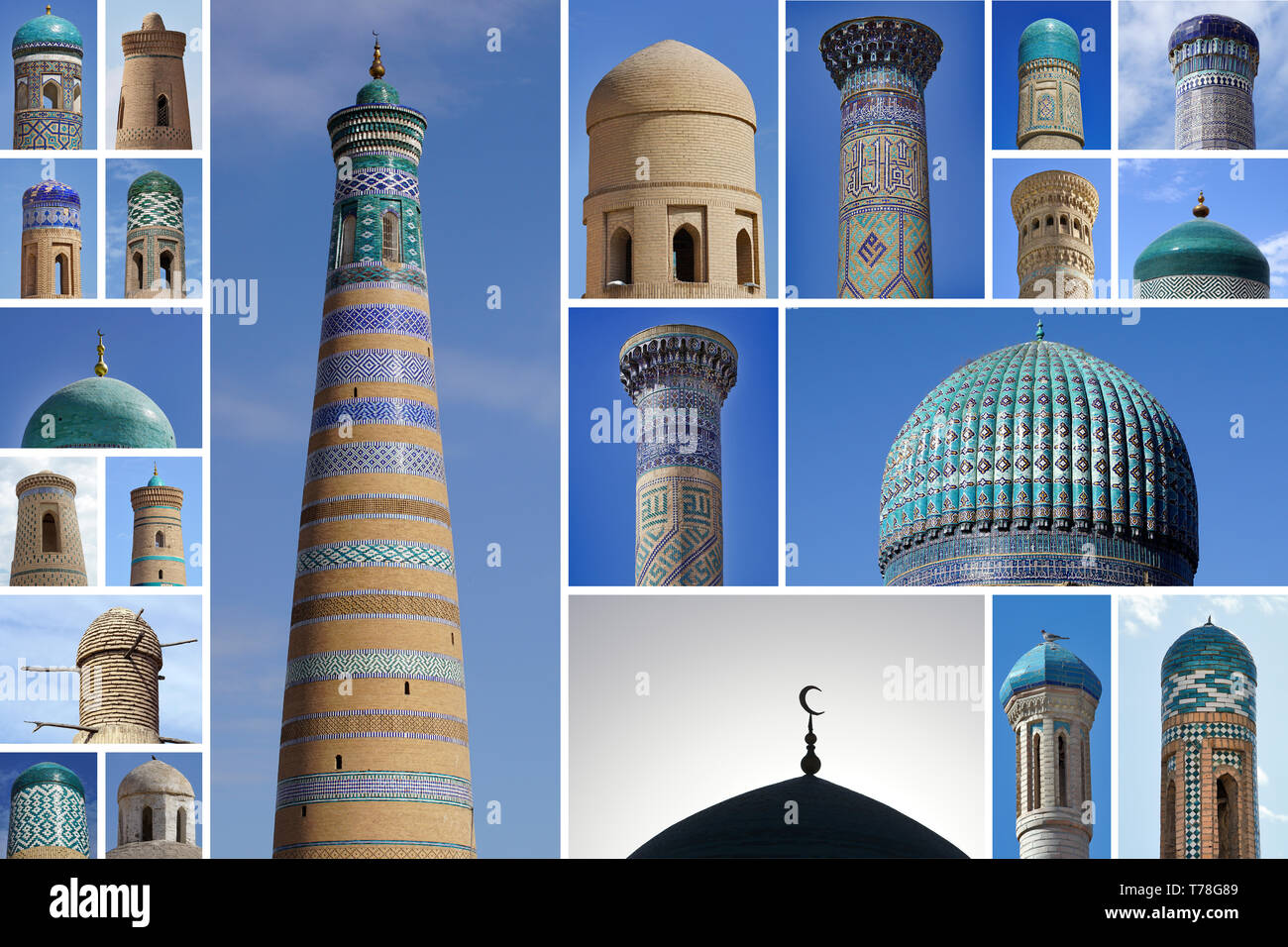 Colorful Decorative Domes And Towers From Uzbekistan