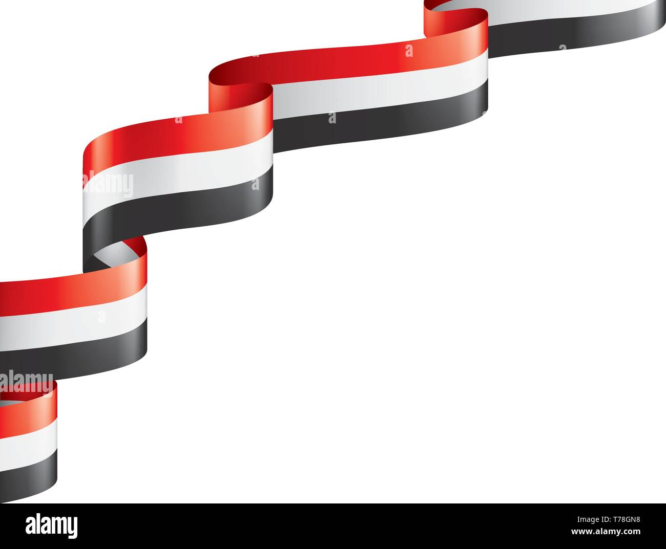 Yemeni flag, vector illustration on a white background. Stock Vector
