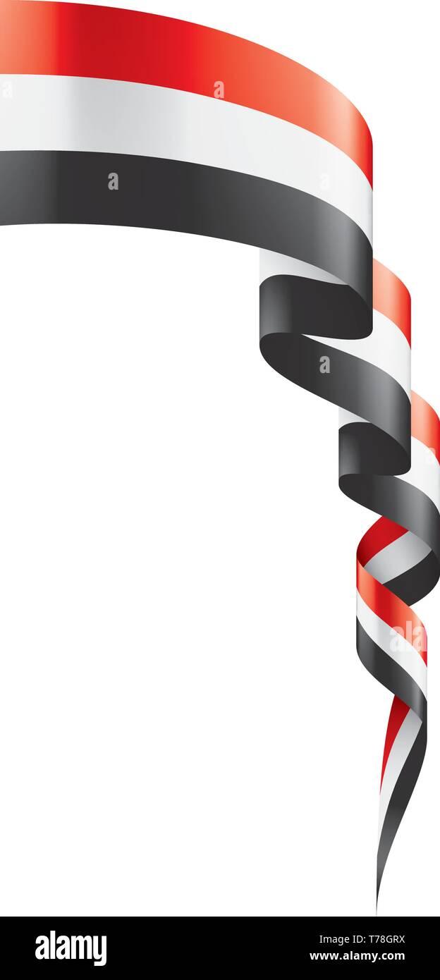 Yemeni flag, vector illustration on a white background. - Stock Vector