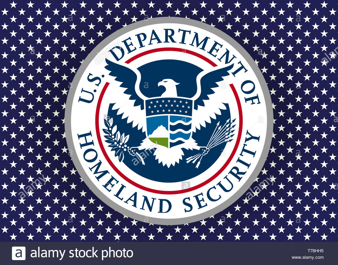 United States Department of Homeland Security DHS logo seal - Stock Image