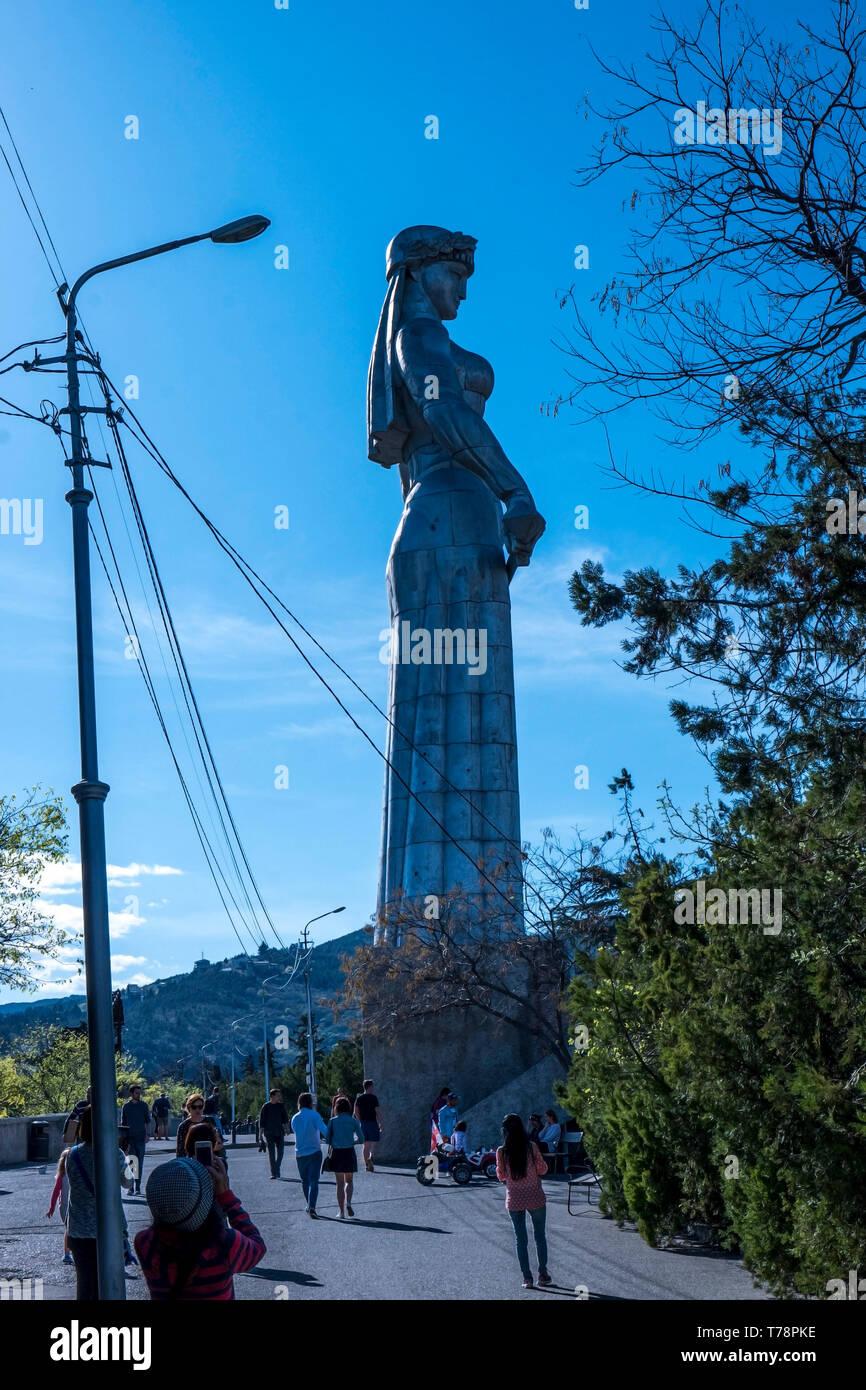 Mother Georgia statue Stock Photo