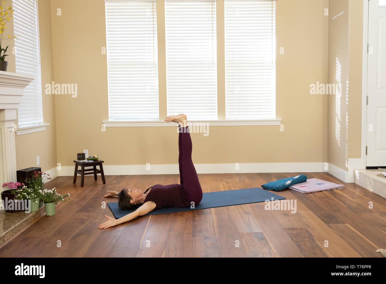 Yoga Urdhva Prasrta Padottanasana - Stock Image