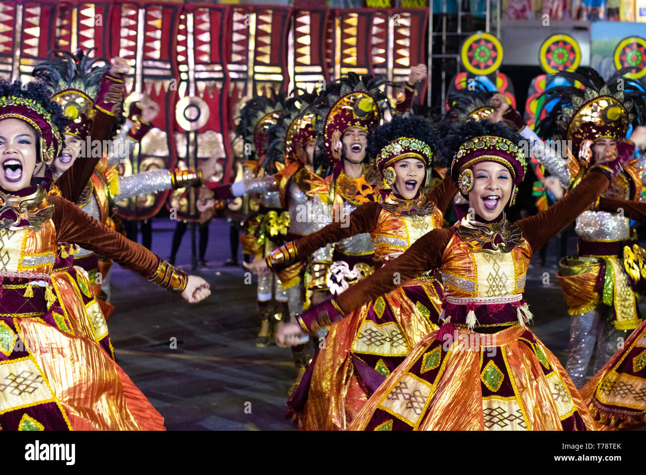 Street Dance Festival In Philippines Brightly Colored Costumes And Many Dancers Compete For Prizes Stock Photo Alamy