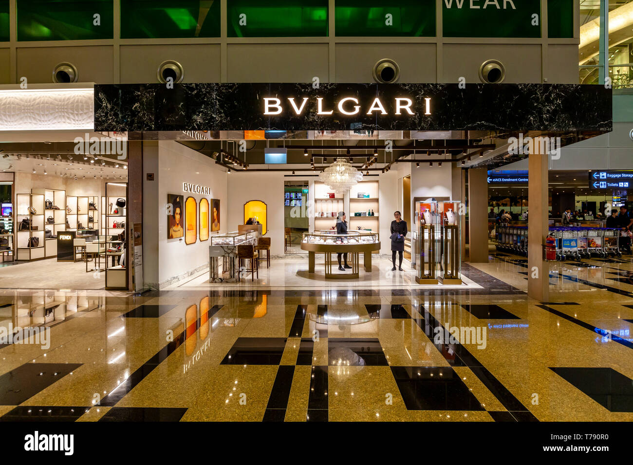 Exclusive Shopping, Changi Airport, Singapore, South East Asia - Stock Image