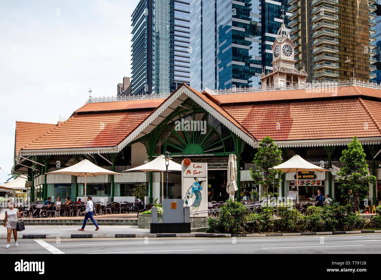 Lau Pa Sat Festival Market, Singapore, South East Asia - Stock Image